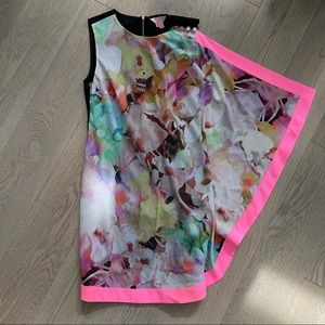 Ted Baker Fitted Dress with Colorful Draping